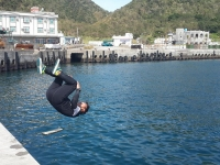 Somersault jump harbor ~